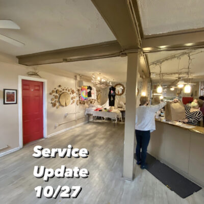 Service Update 10/27 – Dining Room CLOSED until further notice