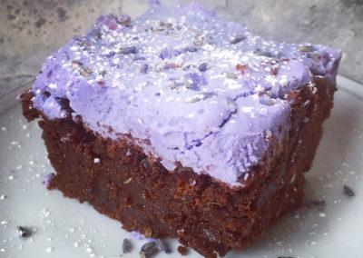 Lavender brownie